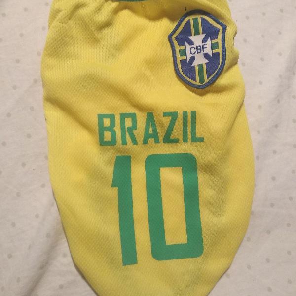 Regata de futebol brasil copa do mundo para cachorro ou gato