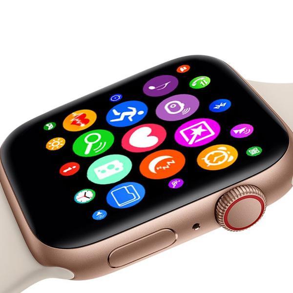 relógio inteligente smartwatch iwo9 pulseira silicone