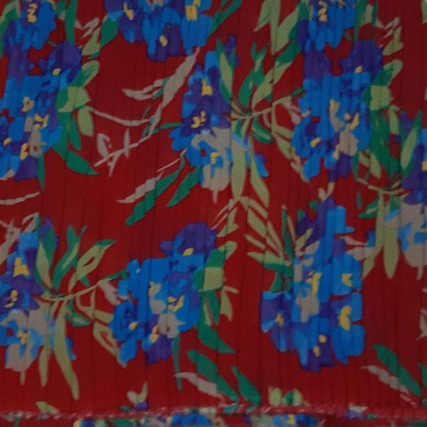 Tecido seda estampada plissada - mt