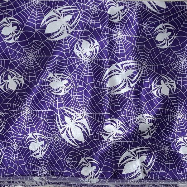 Toalha mesa - aranhas - halloween - bruxas - cetim