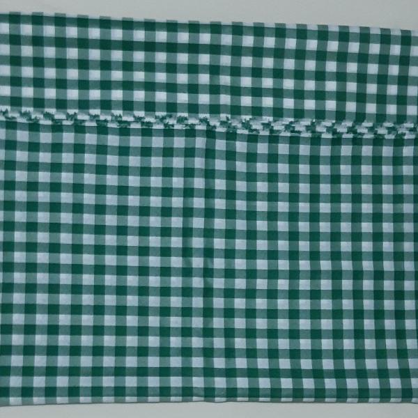 Toalha mesa - xadrez verde / branco - poliéster - 3 mts.
