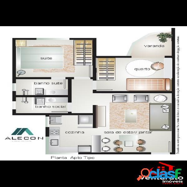 Apartamento 02 quartos, suíte, 02 vagas - itapoã