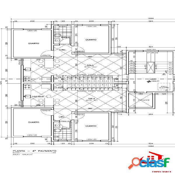 Cobertura 02 quartos, 01 vaga, elevador, 90m² - santa branca