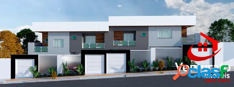 Casa individual geminada 3 quartos bairro sata branca em alto padrão.