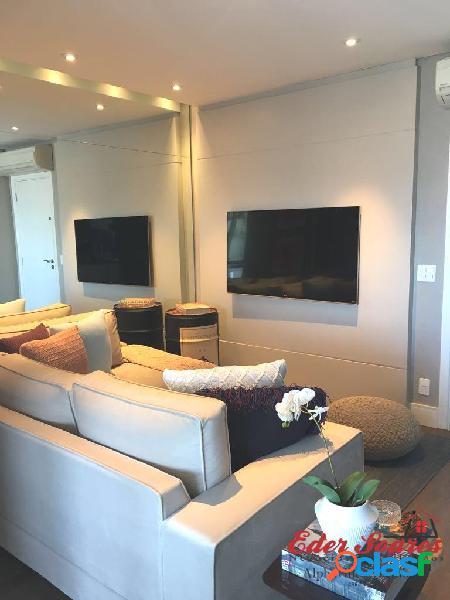 Apartamento decorado e com linda vista á venda em alphaville