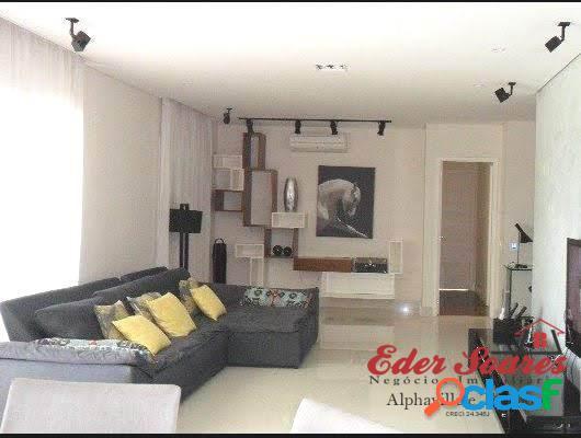 Apartamento mobiliado e decorado com 158m² para locação