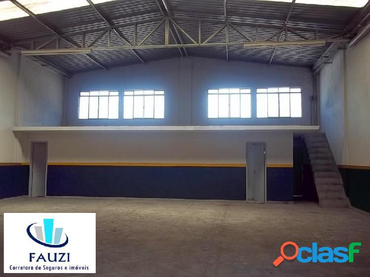 Galpão comercial para locação, área 588m² r$ 7.500,00