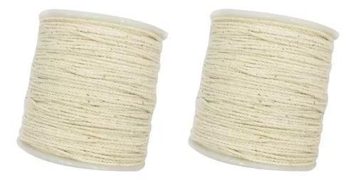 2 pcs 100 rústico corda de algodão rústico trançado cord