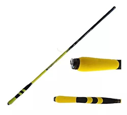 2 vara de pesca 100% carbono 6,30m fibra trançada 6 a 14