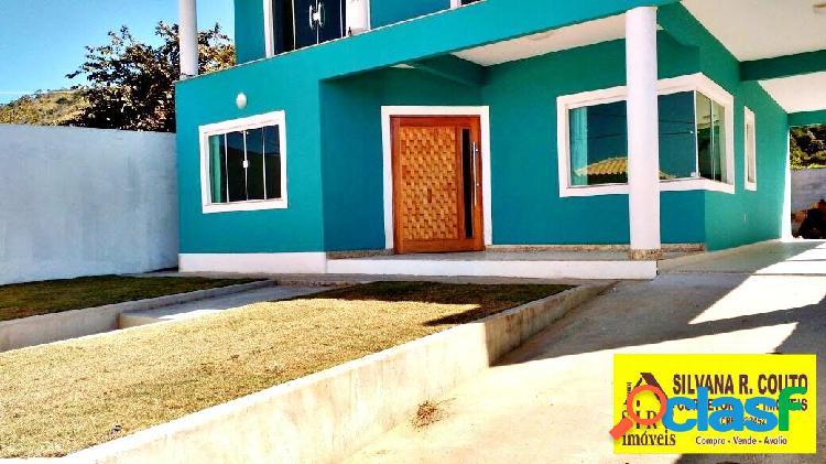Excelente casa duplex, 4 quartos - vivendas de itaipuaçu- r$ 530 mil