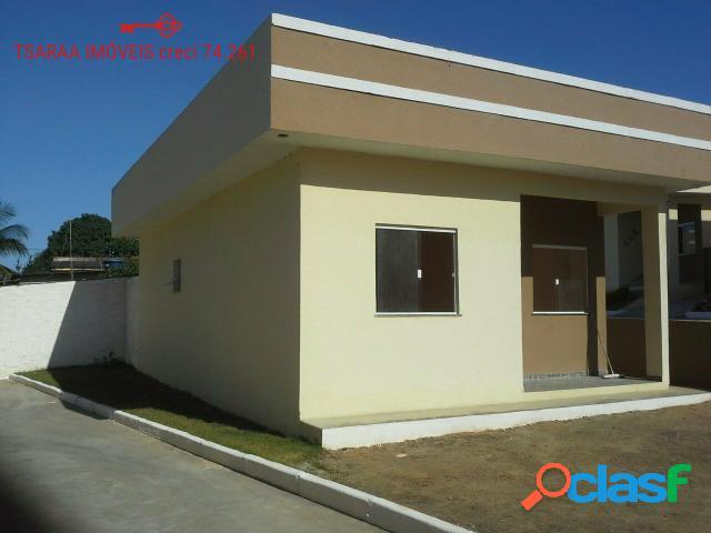 Casa nova em condomínio 02 dorm. araruama.