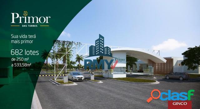 Dois terrenos à venda primor das torres - 250 m² (cada)