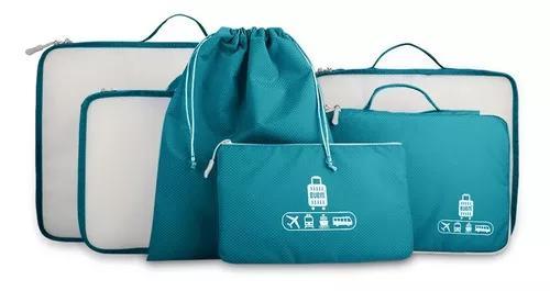 6 conjunto saco de organizador de viag