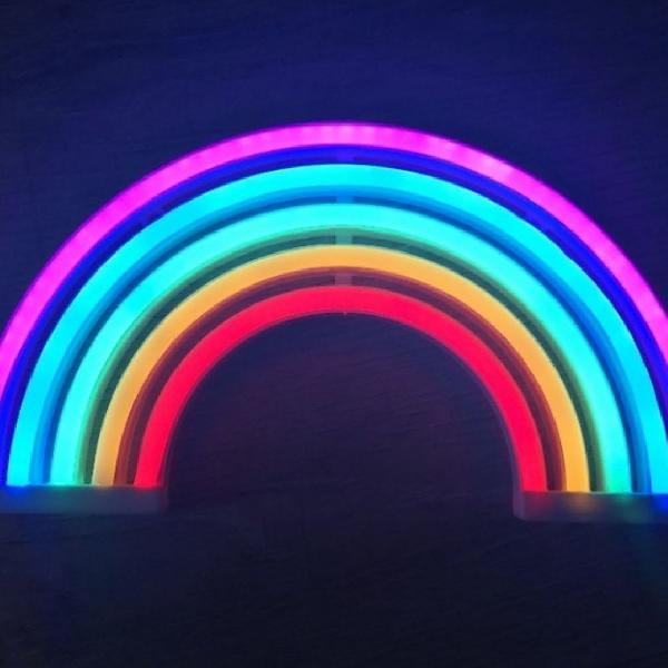 Arco íris neon