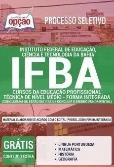 Apostila ifba 2019 cursos educ profissiona - forma integrada