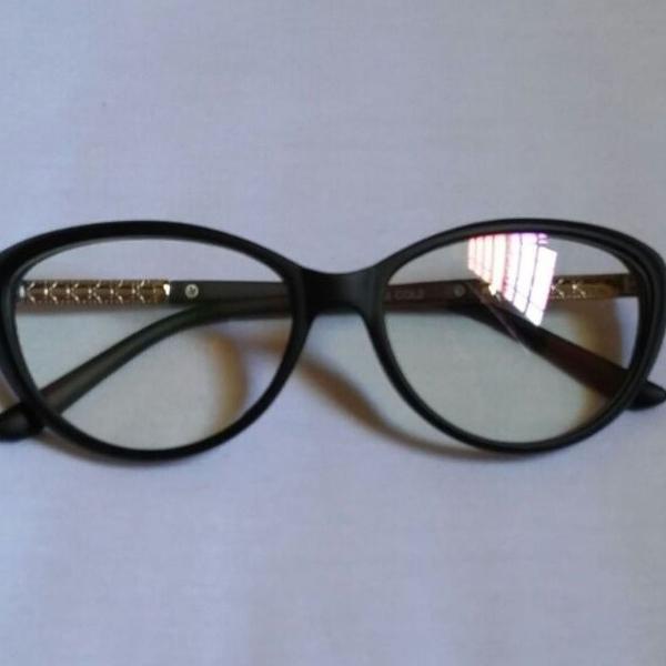 Armação de óculos gatinho preto