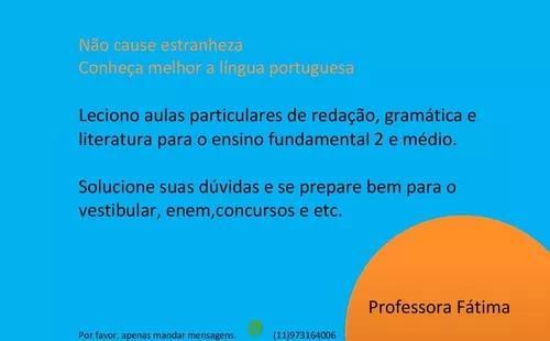 Aulas de língua portuguesa / aulas de português