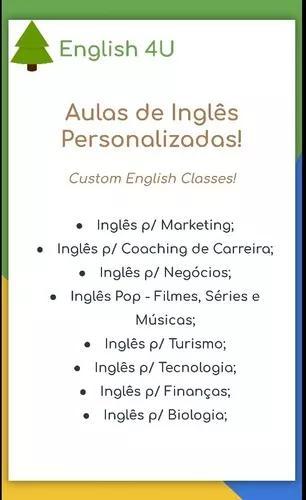 Aulas particulares de inglês - aprenda o que você