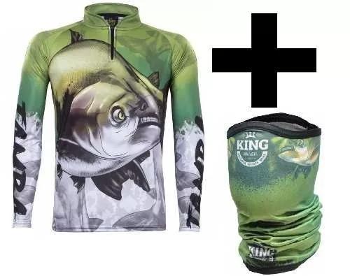 Camisa + bandana king c/ proteção solar uv30+ tambaqui