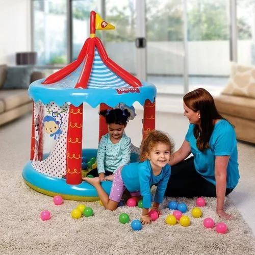 Circo infantil fischer price com 25 bolinhas - bestway