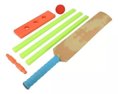 Jogo ao ar livre indoor cricket plástico destacável stumps