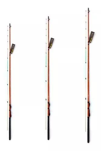 Kit 3 varas pesca ultra light com 1,80 mts piapara xingu