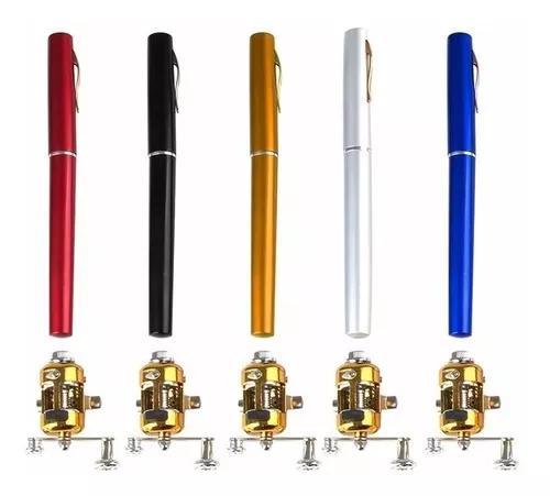Kit 3x mini vara de pesca c/ carretilha tipo caneta