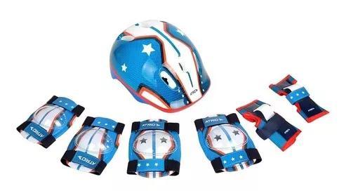 Kit proteção infantil atrio sports p/ skate bike patins