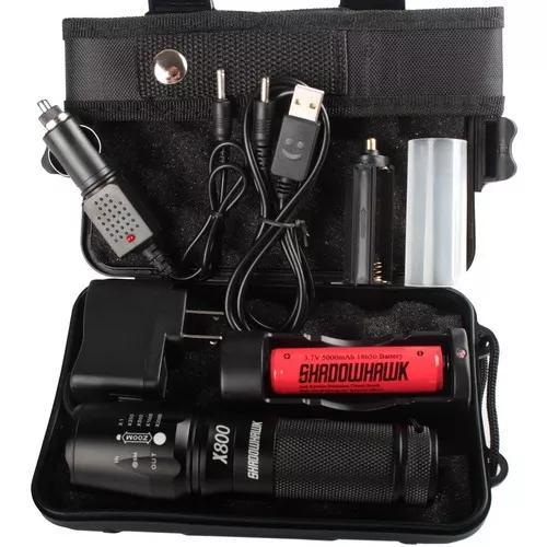 Lanterna shadowhawk x800 cree l2 led 8000lm conjunto