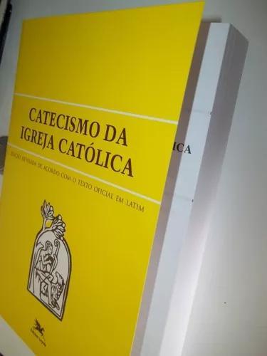 Livro catecismo da igreja católica tamanho grande loyola