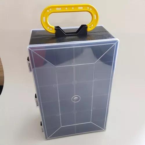 Organizador plastico maleta ferramenta anzol pesca parafuso