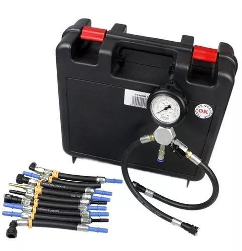 Teste de pressão e vazão da bomba de combustível para