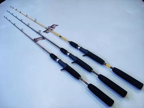 Vara p/ carretilha 1,50m 1 parte ideal pesca isca artifcial