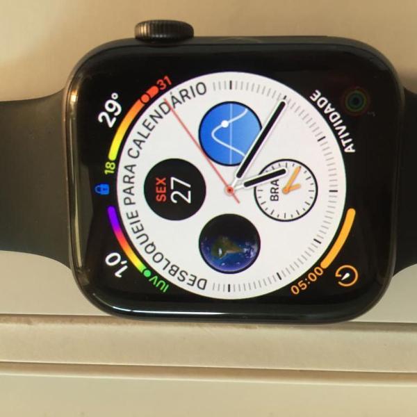Apple watch 4 gps + celular 44mm garantia apple care+ 2 anos