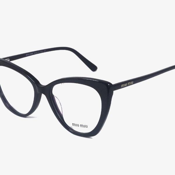 Armação de óculos de grau feminino gatinho miu miu mm1263