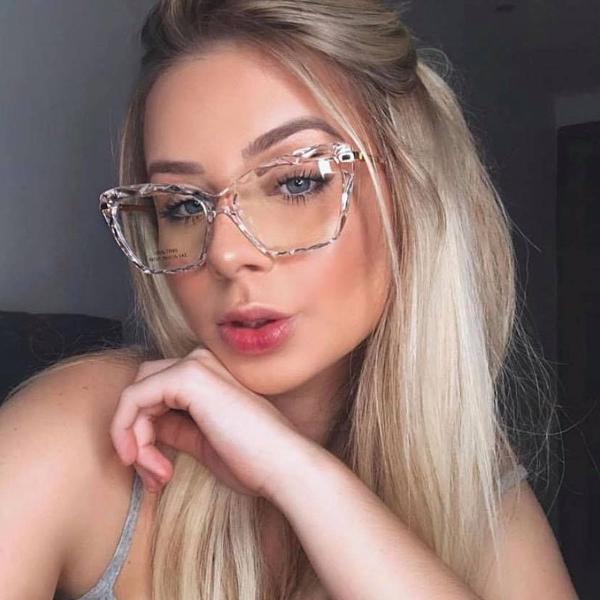 Armação p/ óculos de grau diamante chic