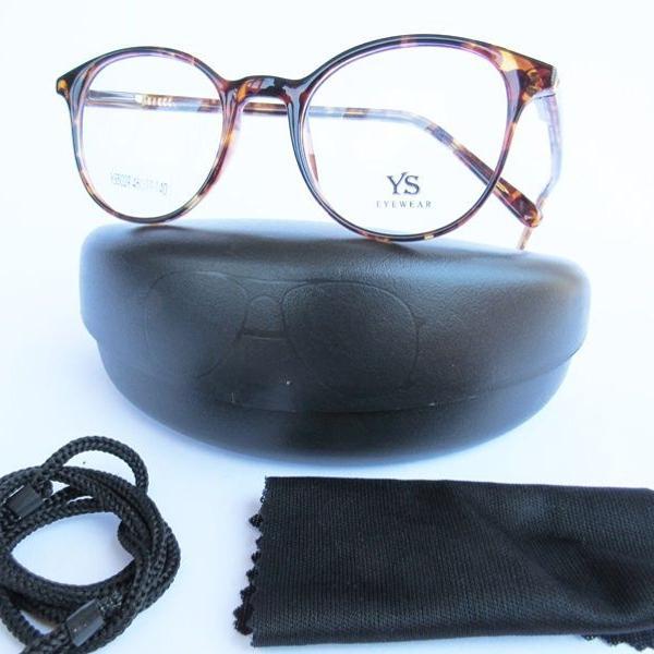 Armação para óculos de grau redondo em acetato