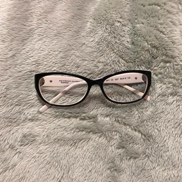 Armação preta oculos de grau ana hickmann