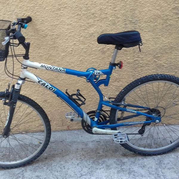Bicicleta caloi montana 21 com suspensão