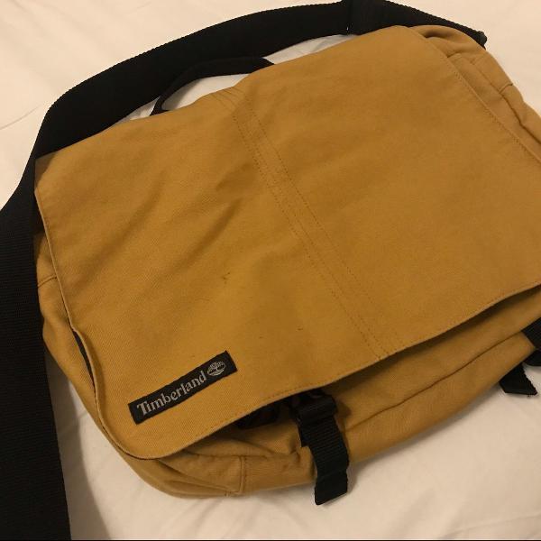 Bolsa carteiro/bolsa de ombro timberland mostarda