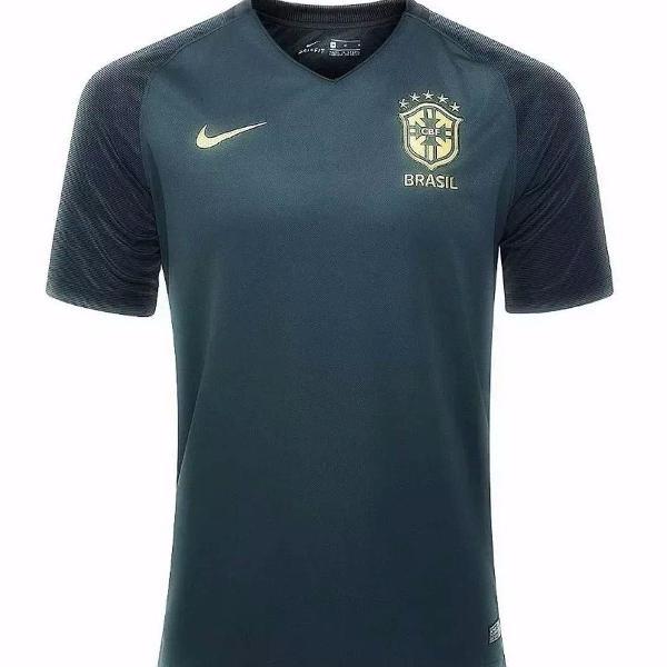 Camisa brasil nike masculino verde escuro tamanho = m