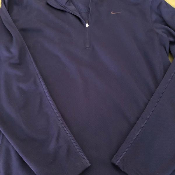 Camiseta manga longa de marca nike com ziper