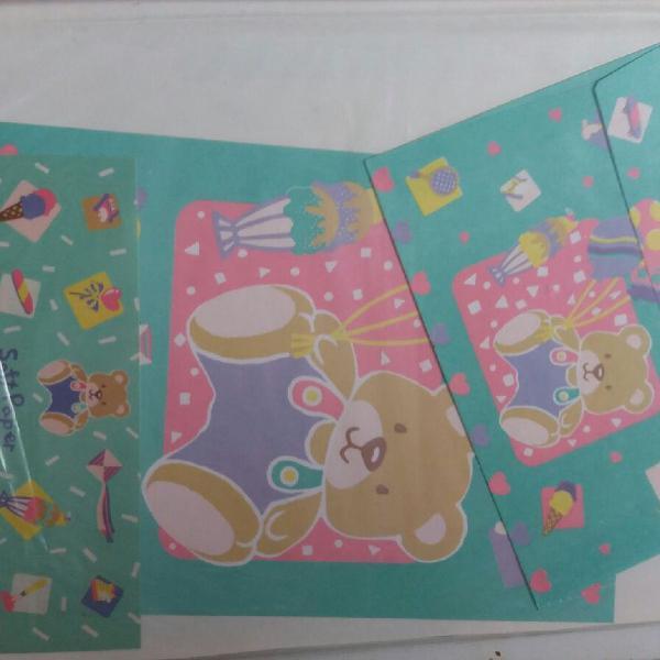 Coleção kit lote papéis papel de carta