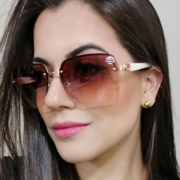 Culos de sol feminino gucci lentes marrom degradê