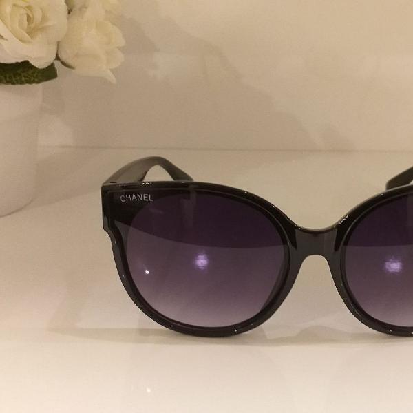 Culos de sol feminino importado estilo chanel preto