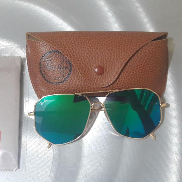 Culos de sol rayban lentes verdes - lançamento