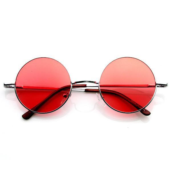 Culos redondo hippie - lente colorida - vermelho - john