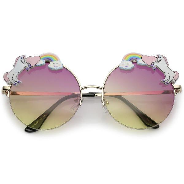 Culos redondo - lentes coloridas - unicornio