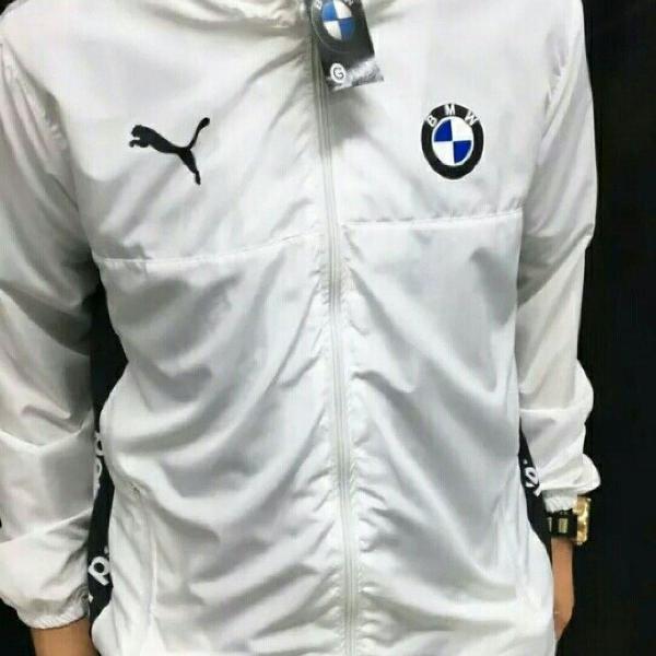 jaqueta corta vento bmw puma branca