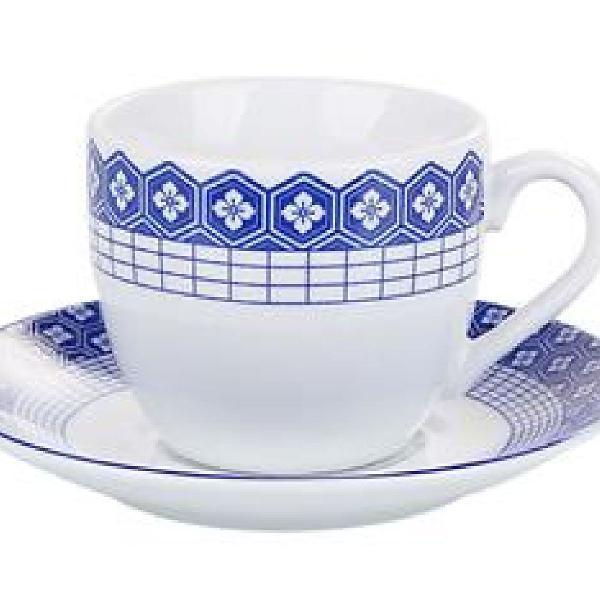 Jogo de xícaras chá athenas porcelana